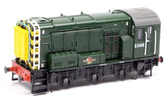 N GRAHAM FARISH BR GREEN CLASS 08 D3406 DIESEL SHUNTING LOCO BODY ONLY