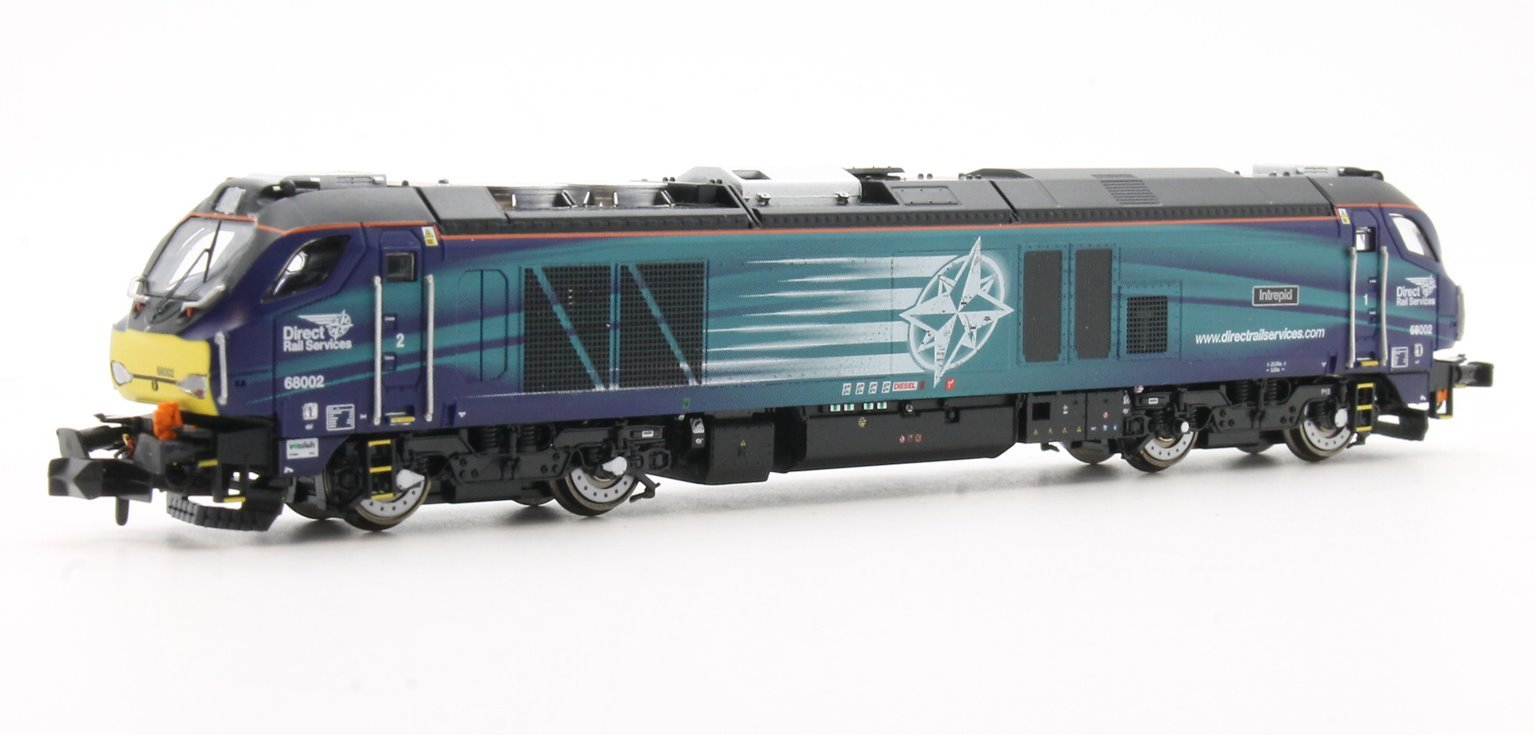 """Class 68 68002 """"Intrepid"""" in DRS livery DCC Fitted"""
