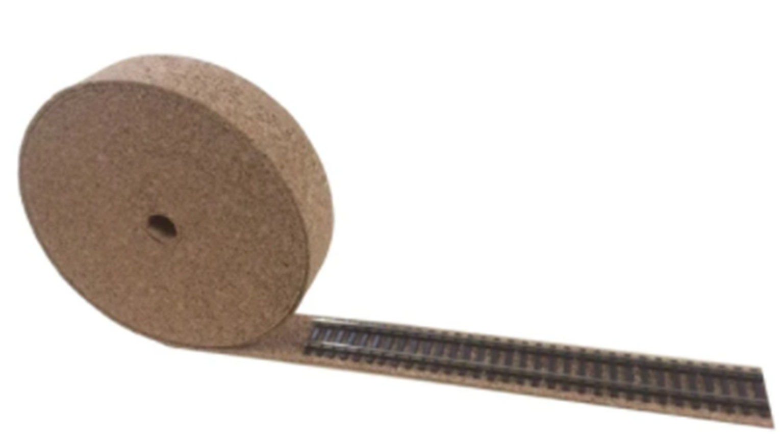 OO Gauge - Model Railway Cork Track Underlay Roll 10 Meter Long - 3mm Thick