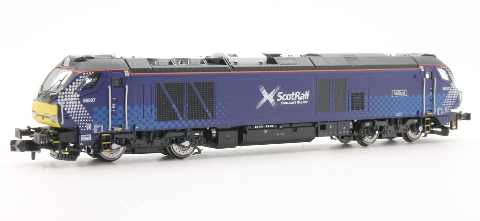"""Class 68 68007 """"Valiant"""" in Scotrail livery DCC Sound"""