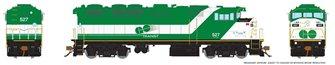 HO Scale F59PH - GO Transit (Experimental logo) #527