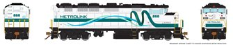 HO Scale F59PH - Metrolink (ribbon) #853 DCC Sound Fitted