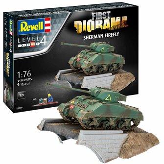 Sherman Firefly First Diorama Gift Set Kit (1:76 Scale)