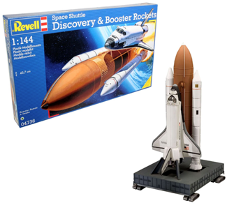 Space Shuttle Discovery + Booster Rockets Model Kit
