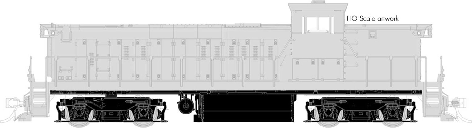GMD-1 Locomotive - Undecorated - 1430-1434 Series - DCC Silent
