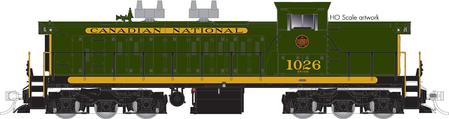 GMD-1 Locomotive - 1000 Series - CNR Green #1003 - DCC Silent