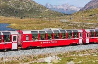 RhB Bernina Express (New Logo) 3 Car Coach Set