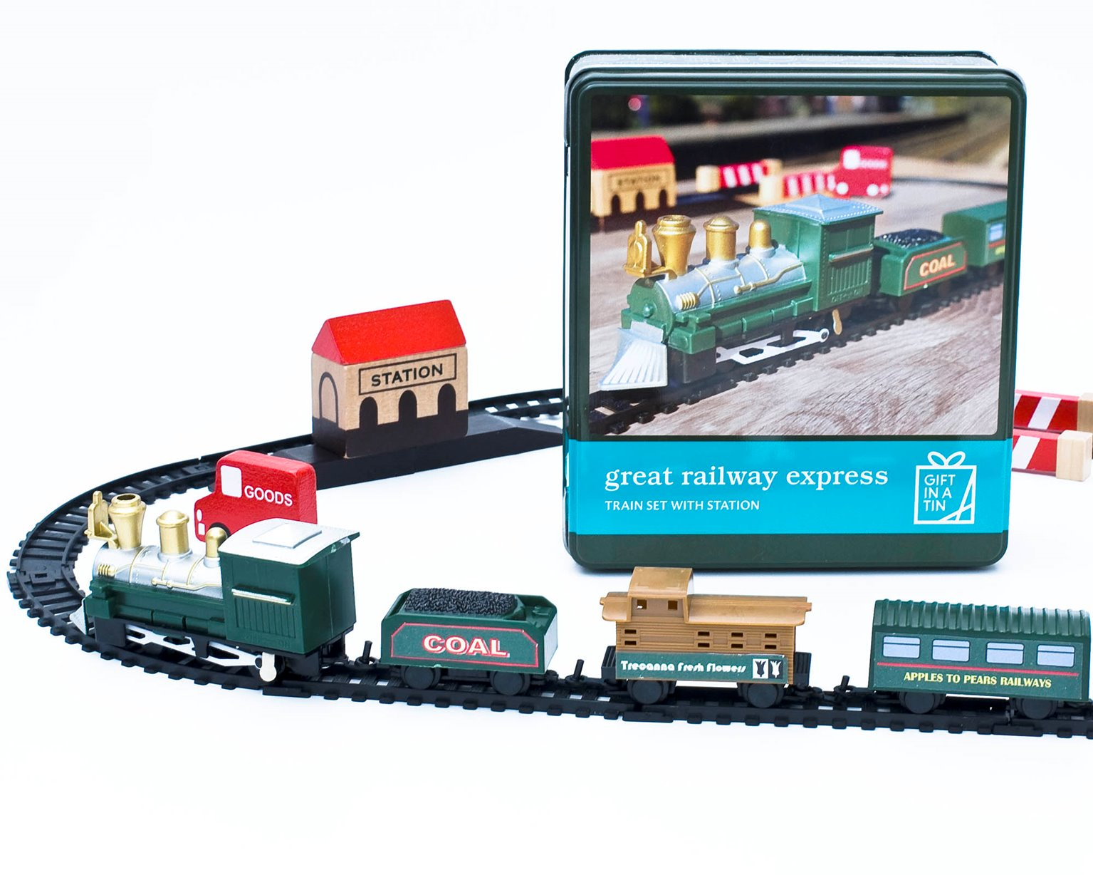 The Great Railway Express Gift in a Tin Train Set