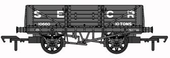SECR 1349 5 Plank Open Wagon - SECR Grey #10660