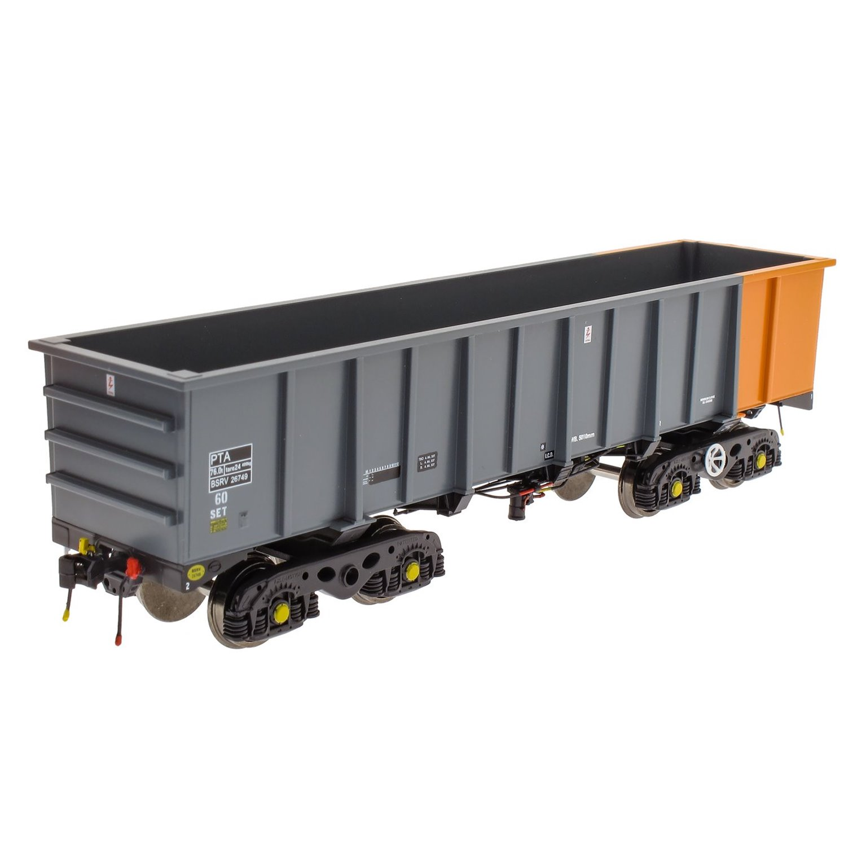 PTA/JUA Bogie Tippler Pack - British Steel Grey & Orange (Inner)