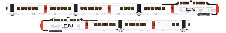 UAC TurboTrain Canadian National 5 Car Unit PCD-27 – IC-31 – IC-30 – IC-33 – PDC-26 - DC/Silent