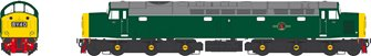 Class 40 BR Green with Full Yellow Ends Unnumbered Diesel Locomotive