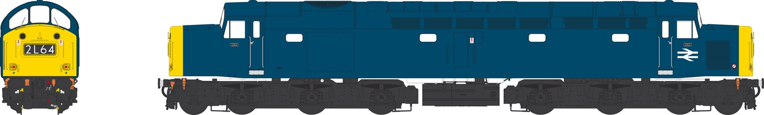 Class 40 BR Blue with Full Yellow Ends and Headcode Display Unnumbered Diesel Locomotive