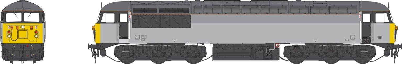 Class 56 Railfreight three-tone grey unbranded Heavy Freight Diesel Locomotive