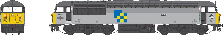Class 56 110 'Craft' Railfreight Construction Sector Heavy Freight Diesel Locomotive