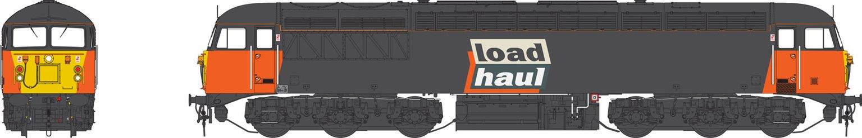 Class 56 Loadhaul black/orange Heavy Freight Diesel Locomotive