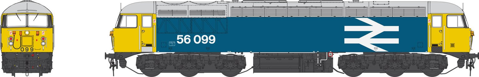 Class 56 BR large logo blue 56099 'Tinsley embellishments'