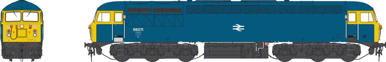 Class 56 071 BR Blue Diesel Locomotive
