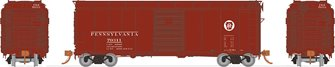HO PRR X31A Single-Door Boxcar: Circle Keystone - 6 PACK