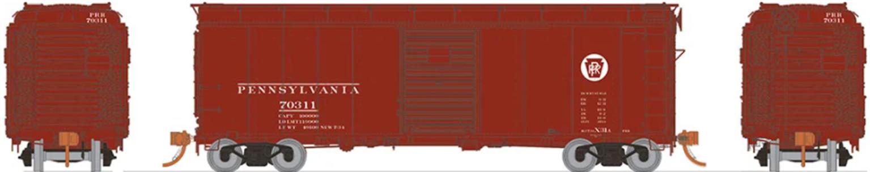 HO PRR X31A Single-Door Boxcar: Circle Keystone