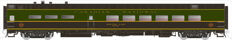 Canadian National (1954 Scheme) P-S Lightweight Pullman Dining/Lounge Car #1350