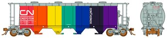 "Ultimate Canadian 3800 u ft Covered Hopper - CN ""Rainbow"" Single Car"