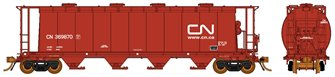 Ultimate Canadian 3800 u ft Covered Hopper - CN (Mineral Brown) Single Car