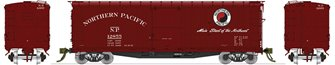 NP 10000-series DS Boxcar MAIN STREET (1951-1956) Red Ends & Roof 4-pack