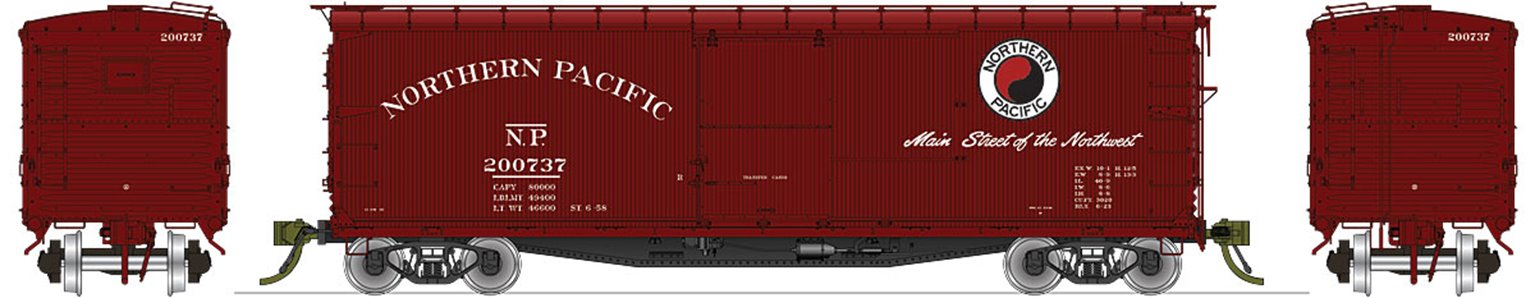 NP 10000-series DS Boxcar Company Service (1956-1982) 4-pack