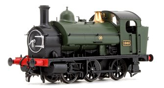 GWR 1361 Class 0-6-0 Tank Locomotive No.1363 in GWR Green Monogram Insignia