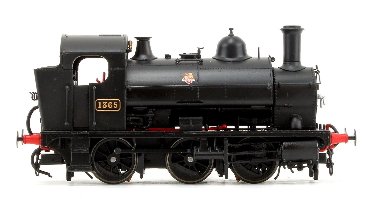 GWR 1361 Class 0-6-0 Tank Locomotive No.1365 in BR Black Early Lion & Wheel Insignia