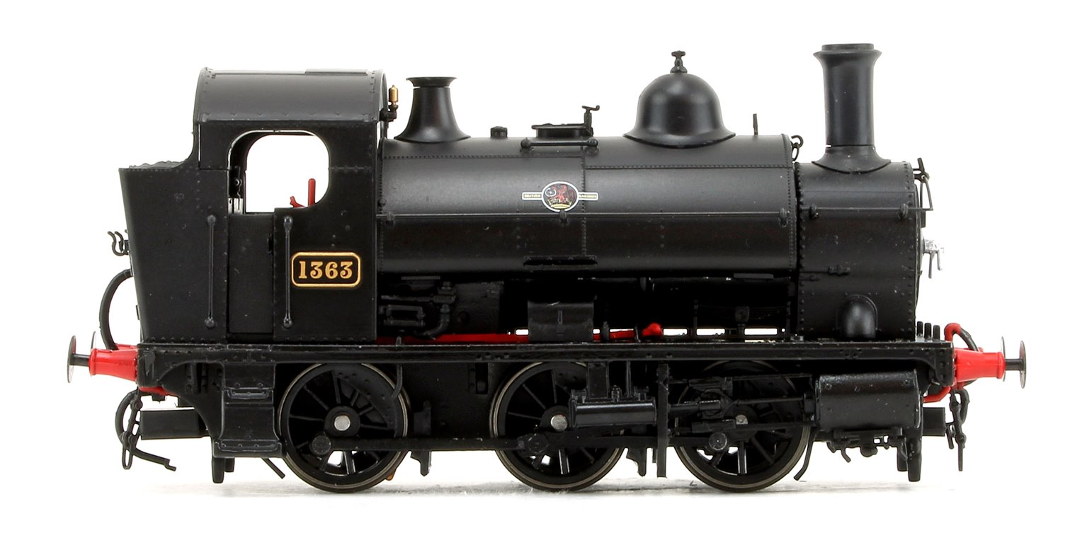 GWR 1361 Class 0-6-0 Tank Locomotive No.1363 in BR Black Late Lion & Wheel Insignia