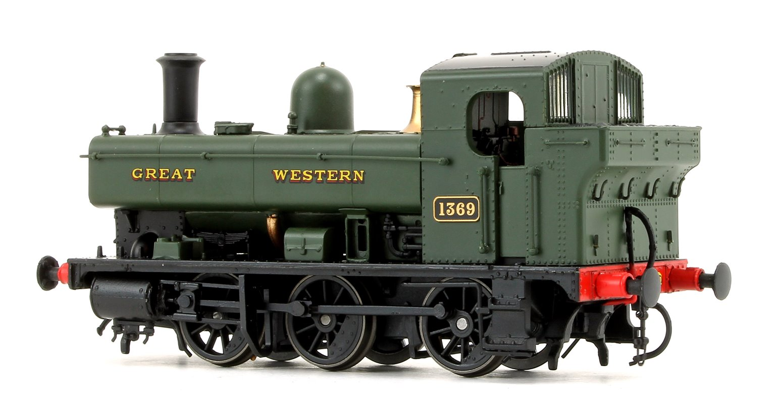 GWR 1366 Class 0-6-0 Tank Locomotive No.1369 in Great Western green as preserved