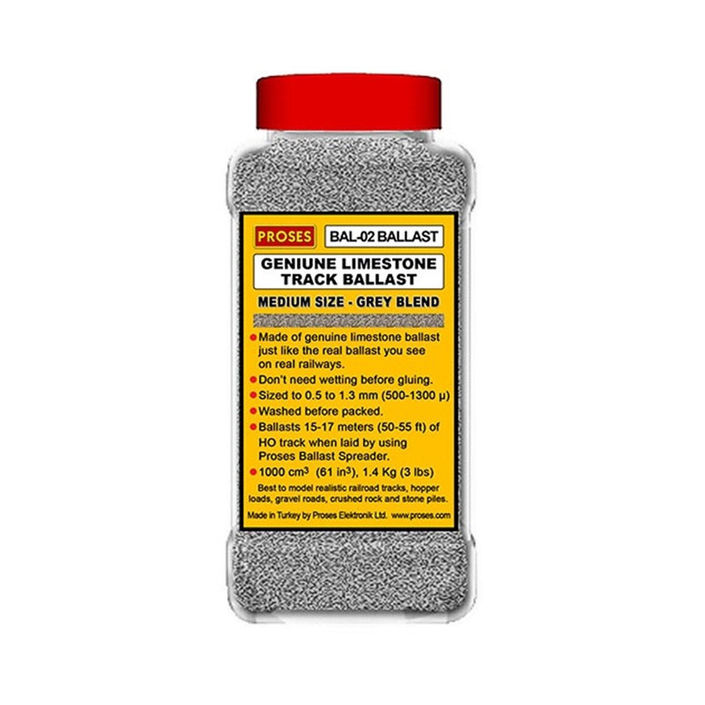 1.4 Kg (3 lbs) Authentic Limestone Ballast HO/OO (Grey Blend)