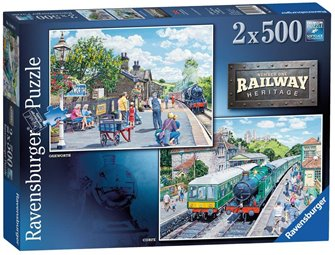 Ravensburger Jigsaw Railway Heritage No 1, 2 x 500pc