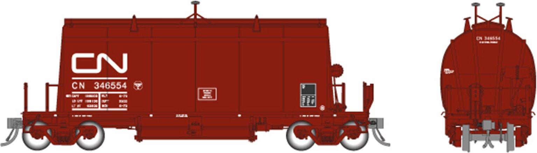 HO Long Barrel Ore Hopper: CN Mineral Brown – Single Car