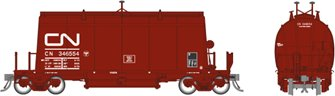 HO Long Barrel Ore Hopper: CN Mineral Brown – 6-Pack #2
