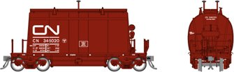 HO Short Barrel Ore Hopper: CN Mineral Brown – 6-Pack #2