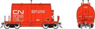 HO Short Barrel Ore Hopper: CN Scale Test Car – 3-Pack