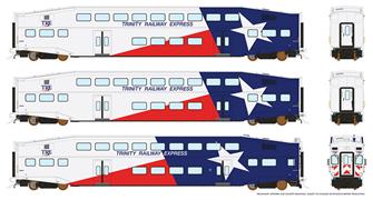 HO BiLevel Commuter Car - Trinity Railway Express (TRE, Dallas/Fort Worth)