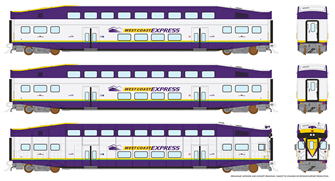 HO BiLevel Commuter Car - West Coast Express (Vancouver)
