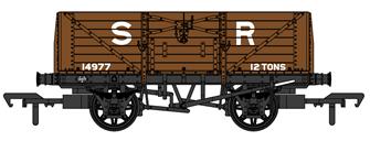 SECR 1355 7 plank Open Wagon - SR brown (pre-1936) #14977