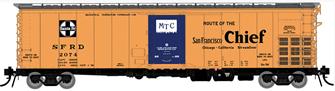 HO Santa Fe RR-56 Mechanical Reefer: San Francisco Chief Slogan