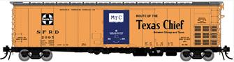 HO Santa Fe RR-56 Mechanical Reefer: Texas Chief Slogan