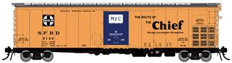 HO Santa Fe RR-56 Mechanical Reefer: Chief Slogan