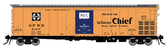 HO Santa Fe RR-60 Mechanical Reefer: San Francisco Chief Slogan