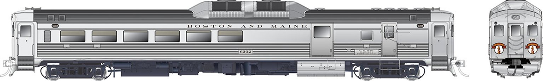 RDC-3 (Phase Ic) Boston & Maine #6300 - DCC Silent