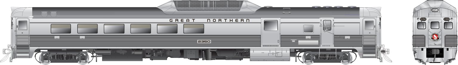 RDC-3 (Phase II) Great Northern #2350 - DCC Silent