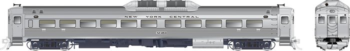 RDC-1 (Phase Ib) New York Central (Early) #M455 - DCC Silent