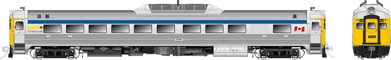 RDC-1 (Phase II) VIA Rail Canada (Blue Stripe) #6148 - DCC Sound